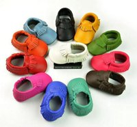 Wholesale Genuine Leather Toddler baby moccasins soft baby shoes color First Walkers Anti slip Infant Shoes