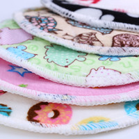 Wholesale colors minky PUL bamboo inner breast pad nursing pad feeding pad waterproof washable mixed color