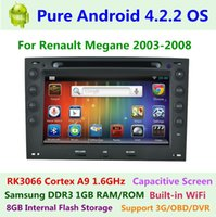 renault megane 2 - Pure Android Capacitive Renault Megane II Car DVD GPS Navigation Dual Core GHz GB RAM1GB ROM G WIFI Radio