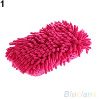 Wholesale Ultrafine Fiber Chenille Anthozoan Car Wash Washer Supplies Washing Cleaning Glove KMD
