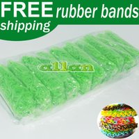 Cheap Multicolor GLOW IN THE DARK Loom Rubber Bands 24 Clips