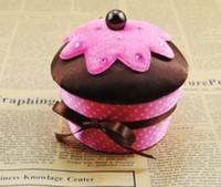 Wholesale Souffle cake Jewelry storage box Cupcake Jewelry packing case cake Jewelry box SW22 Jewelry box