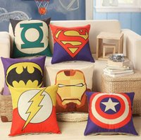 Wholesale 8 Style The Avengers Superhero House Home Car Office Decor Sofa Cushion Linen Pillow Cover Pillowcase For Pillows cm