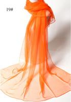 gauze fabric - Pure color yarn women silk scarves fashion beach towel silk scarf fabric shawl gauze kerchief cm cm