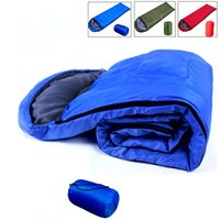 Wholesale Blue Red Green Envelope Style Waterproof Sleeping Bag for Outdoor Camping Hiking Travel Outdoor Gear Polyester Pongee Sleeping Bag