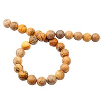 animal food pictures - Natural Gemstone Picture Jasper mm Round Beads for DIY Making Charm Jewelry Necklace Bracelet loose Stone Beads For Wholesales