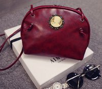 beauty packet - new retro leather handbag shell bag art beauty head fashion shoulder bag Messenger packet tide zx0024
