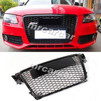 audi front grill - Front Grille Honeycomb Grill RS Style Auto Car Grille Fit For Audi A4 B8 RS4 S4 K Black