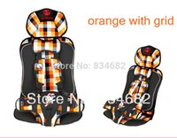 Wholesale FG1511 Baby Car Seat Child Car Safety Seat Safety Car Seat for Baby Months Years Old Orange with Grid colors bear Annbaby