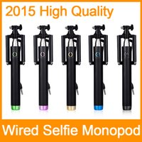 Wholesale New Monopod Handheld Telescopic Selfie Stick Tripod Cable Monopod With Holder for iPhone Android phone DHL