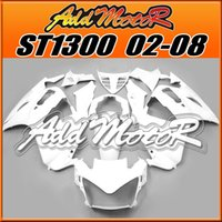 abs works - Addmotor Hot sell ABS Plastic Aftermarket Fairings Fit Honda ST1300 ST Body Work All White H1308 Five Free Gifts