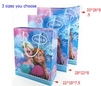 Wholesale 2014 frozen Anna Elsa Princess PVC gift bag Frozen PVC gift bags storage bag holder toys for children frozen bags xmas party gifthj
