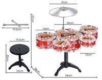 big bands music - Jazz Drum Rock Set PC Drum Set Toy Boys Girls Big Band Jazz Kids Drum Set Kit Play Music Kids Great Gift Colorful