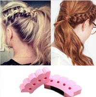 Wholesale P8398 Hot Sale DIY Sponge Magic Hair French Braider Hair Twist Styling Braid Tool Holder Clip Hairdo Item for Women Girls