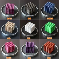 Wholesale Hot Selling Buckyballs Neocube mm Neo Cube Magic toy Puzzle Magnet Block Magnetic Balls Education Toys metal Box bag card