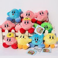 Multicolor free stuff - Super mario plush toy Lovely Kirby Stuffed Plush Pendants keychains Soft Toys cm