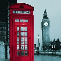 Wholesale New Famous City Landmark Pattern London Big Ben Polyester Shower Curtain