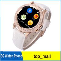 A prueba de agua reloj inteligente No.1 D2 mujeres del diamante del oro SmartWatch bluetooth multi-estilo de las cámaras de 0,3 MP para Smartphone 010059