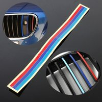 Wholesale 20 cm Grille Stickers Decal Decorative Strip for BMW M3 M5 E36 E46 E60 E90 E92 Colors Car Styling