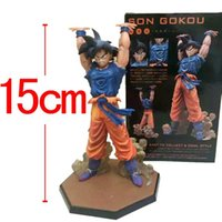 anime statues figures - Japanese Anime Dragonball Dragon Ball Z Dbz Super Spirit Bomb Saiyan Son Goku gokou PVC Figure Toys Statue collectable