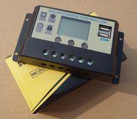 Wholesale Digital A Solar Panel Charger Controller System LCD Display Solar Regulator V V Dual USB V Mobile Charger