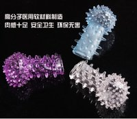 Wholesale ST HG NEW HOT Sex toys products novelty crystal rings thimbler set caterpillar finger cots sex products adult and wife sex product