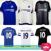 Wholesale Thai Quality Chelsea Jersey Chandal Chelsea HAZARD FABREGAS DIEGO COSTA Soccer Jerseys Chelsea FC football shirts DROGBA Tops