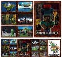 Wholesale 3D Minecraft through Wall Stickers Creeper Decorative Steve Dig Wall Decal Cartoon Wallpaper Kids Party Decoration Wall Art Poster A