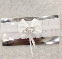 Wholesale New arrive heart buckle Garters bowknot flowers Leg ring Wedding Bridal Garters