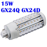 Wholesale Gx24 led lamp PLT lighting degree to replace cfl lamp gx24q pins W W W W GX24D E27 E26 DHL fedex