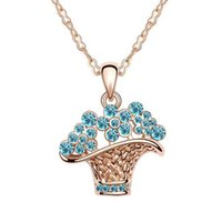 Cheap chain crystal necklace Best chain pendant necklace
