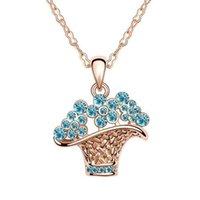 Cheap 2014 New Austrain Czech Diamond Jewelry 18K Gold Plated Flower Choker Necklaces Pendants For Woman men jewelry Bijouterie