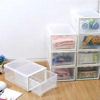 Wholesale Xiangyu transparent PP plastic trumpet multifunctional storage box Desktop debris sorting box drawer thicker