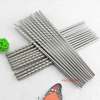 Wholesale Hot Home Kitchen Dinnerware Stainless steel chopsticks Chinese Chopsticks Kitchen Rrestaurant Chopsticks MQC PAIRS