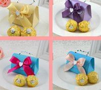 Wholesale 2015 color choose small carry bags with chain DIY marriage charm Shower Favor Candy Boxes Wedding Party Gift hold bag