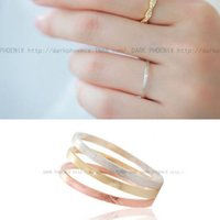 beauty city - Korea Silver City Beauty matte brushed dark plain simple ring opening