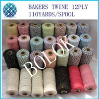 Wholesale 2014 new colors Cotton Baker twine ply yards spool pack Divine twine DIY twine By