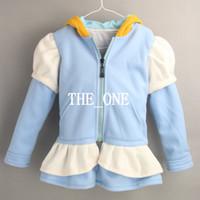 Wholesale princess cinderella costume girl Cinderella jacket princess hoodie winter for girls zip up hoodies jackets zip up hoodies jackets