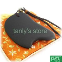 beauty acupuncture - Good quality amp Retail Traditional Acupuncture Massage Guasha plate beauty face tool Natural Black Bian Stone X57