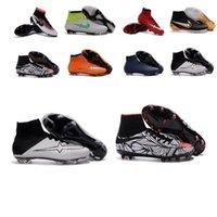 Wholesale 2016 Top original Superfly FG CR7 Football Boots Men Soccer Shoes Botas Futbol Hombre Outdoor Soccer Cleats Soccer Boots