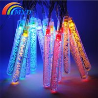yard fence - Solar Powered LED Multi color ice cone String Lights Waterproof Outdoor Lamp Lights for Garden Party Patio Lawn Fence Yard