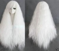 Cheap Cosplay Fashion Long Rhapsody white curly wave party Heat Resistant wig