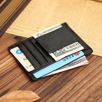 Wholesale Wholesales Faux Leather Man Wallets Multifunction Card ID Holder Portable Credit Card Holder Male Short Wallets Gifts ZC0091 smileseller