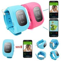 Wholesale Smart Phone Watch Children Kid Wristwatch W5 GSM GPRS GPS Locator Tracker Anti Lost Smartwatch Child Guard for iOS Android