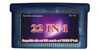 22in1 multi_games cart / nave libre / para la consola real de GBA y la consola de WOODISP ambos / todos los juegos son juegos verdaderos del gba