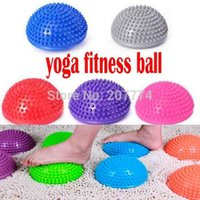 ball step - Yoga Half Ball Physical Fitness Appliance Exercise balance Ball point massage stepping stones bosu balance pods GYM YoGa Pilates