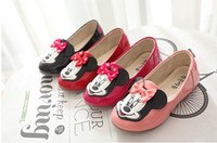 Wholesale Newest Girls Favorite Cartoon PU Shoes Children Fashion Candy Color Lovely Princess Shoes p l