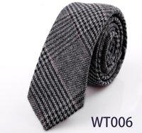 Precio de Lazo de lana-20pcs / lot 19 colores de los hombres de alta calidad atan versión coreana del ocio de lana negra estrecha británicos estudiantes viento casado lazos comerciales