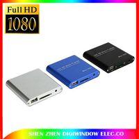 Wholesale New P Mini HDD Media Player MKV H RMVB HD with HOST USB SD Card Reader