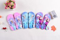 cartoon slippers - Summer Girls Frozen Beach Slippers Elsa Anna Cartoon Slipper Women SlipperChildren Household Antiskid Breathable Sweat Slippers